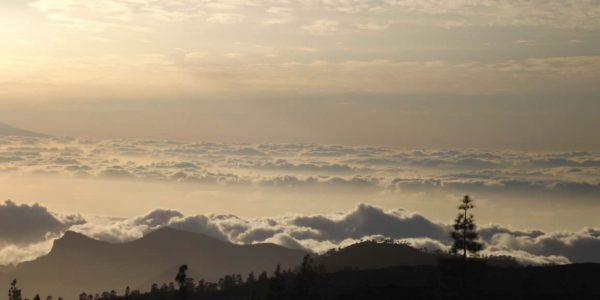 Sunset behind La Palma, seen from Tenerife