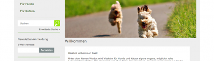 Shop for Vegan Dog and Cat Food: vitakeim-animal.de