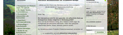 Online-Shop for Vegan Natural & Raw Food. Vitakeim.de