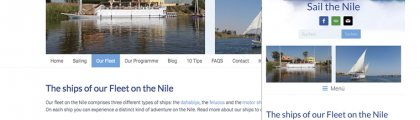 Sail the Nile … in the Web
