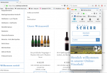 Online shop for wine