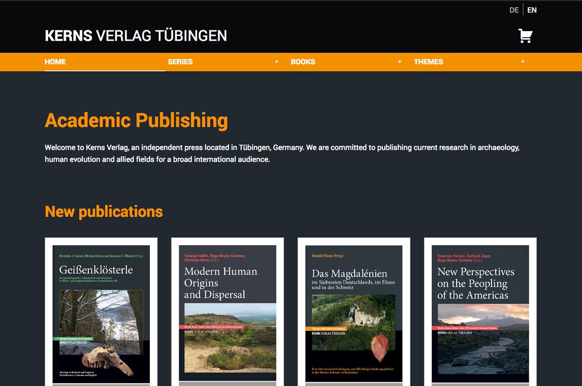 Webdevelopment: Online Shop Kerns Buchverlag